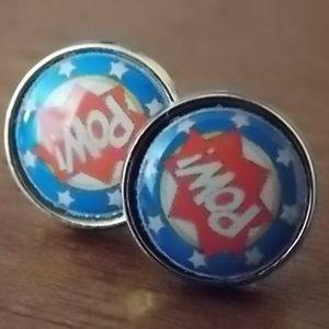 New, Unused, In Original Box Superhero Earrings